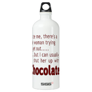 Shut her up with Chocolate Water Bottle