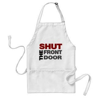 Shut the Front Door Aprons