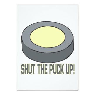 Shut The Puck Up Card