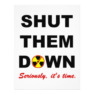 Shut Them Down Anti-Nuclear Rally Flyer Template