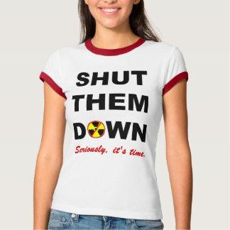 Shut Them Down Anti-Nuclear Slogan Tshirt