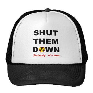 Shut Them Down Anti-Nuke Slogan Trucker Hat