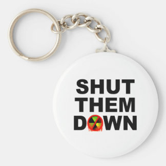 Shut Them Down No Meltdowns Slogan Keychain