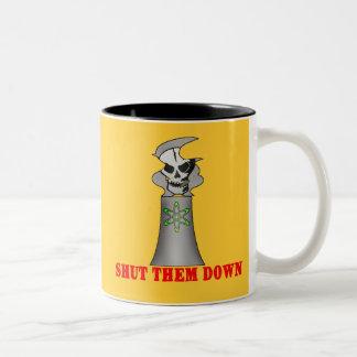 SHUT THEM DOWN No Nuclear Energy Tshirt Mugs