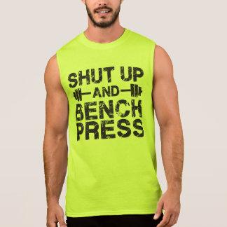 Shut Up and Bench Press Sleeveless Shirt