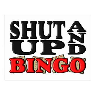 """SHUT UP AND BINGO"" POSTCARD"