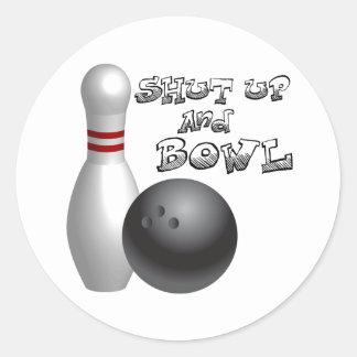 Shut Up and Bowl Classic Round Sticker