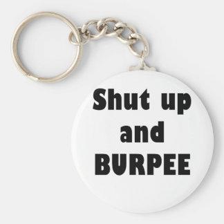 Shut Up and Burpee Keychain