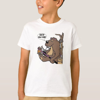 Shut Up And Camp Kids Cartoon T-Shirt