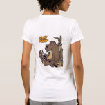 Shut Up And Camp Ladies Bear on back Tees