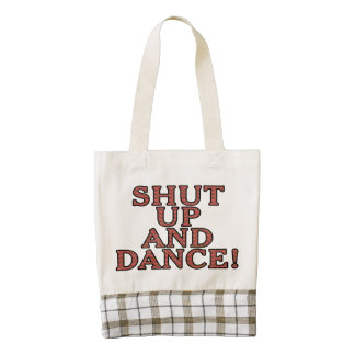Shut up and dance! zazzle HEART tote bag