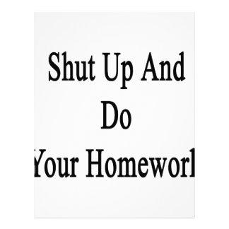 Shut Up And Do Your Homework Letterhead