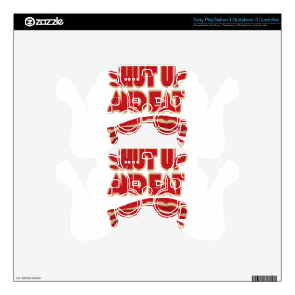 Shut Up And Eat Bacon Decal For PS3 Controller