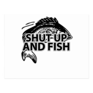 SHUT UP AND FISH SHIRTS.png Post Cards