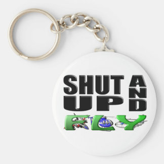 SHUT UP AND FLY (Aircraft) Keychain