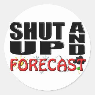 SHUT UP AND FORECAST (Weather) Classic Round Sticker