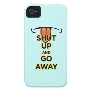 Shut Up and Go Away iPhone 4 Barely There Case Case-Mate iPhone 4 Case