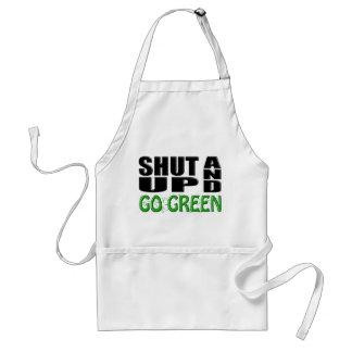 SHUT UP AND GO GREEN (Shamrocks) Adult Apron