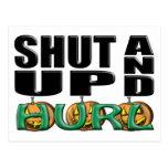 SHUT UP AND HURL (Punkin' Chunkin') Postcard