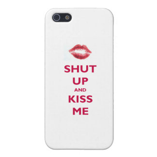 Shut up and kiss me iPhone SE/5/5s cover