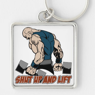 Shut Up and Lift Weightlifter Keychain