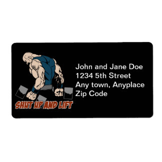Shut Up and Lift Weightlifter Custom Shipping Label