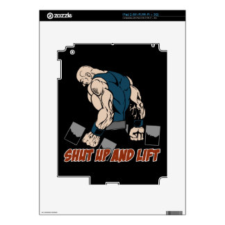 Shut Up and Lift Weightlifter Skin For iPad 2