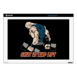 Shut Up and Lift Weightlifter Skins For Laptops