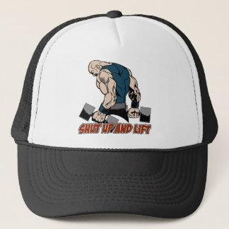 Shut Up and Lift Weightlifter Trucker Hat