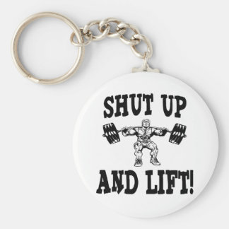 Shut Up And Lift Weightlifting Basic Round Button Keychain