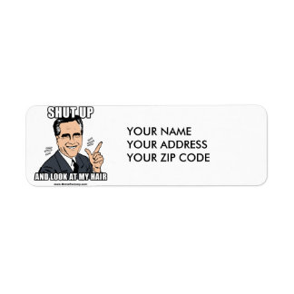 SHUT UP AND LOOK AT MY HAIR CUSTOM RETURN ADDRESS LABELS