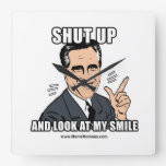 SHUT UP AND LOOK AT MY SMILE WALL CLOCKS