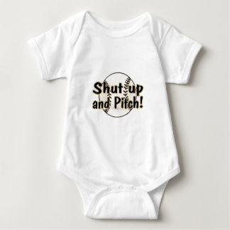 Shut Up And Pitch Baby Bodysuit