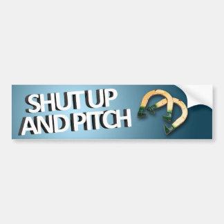 Shut Up and Pitch Bumper Sticker