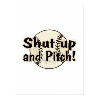 Shut Up And Pitch Postcard