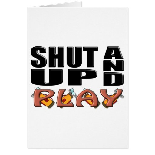 SHUT UP AND PLAY (Golf) Cards