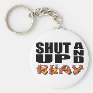 SHUT UP AND PLAY (Golf) Keychain