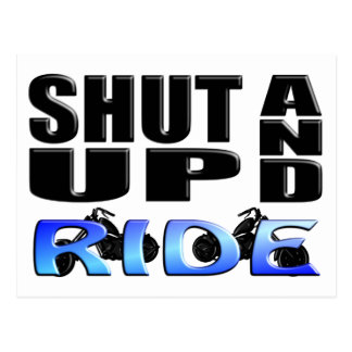SHUT UP AND RIDE POSTCARD
