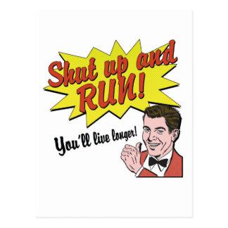 Shut up and Run! Postcard