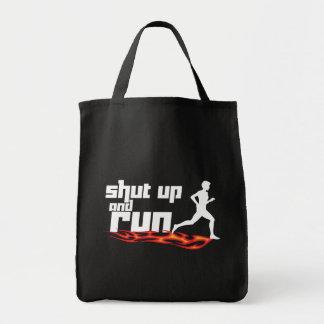Shut Up and Run Tote Bag
