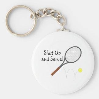 Shut Up And Serve 2 Basic Round Button Keychain