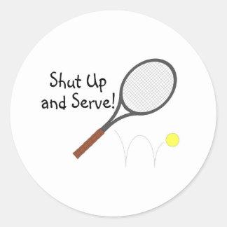 Shut Up And Serve 2 Classic Round Sticker
