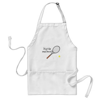 Shut Up And Serve Tennis 2 Adult Apron