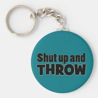 Shut Up and Throw Shot Put Discus Javelin Keychain