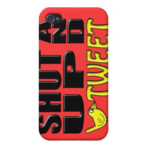 SHUT UP AND TWEET (Birdie) iPhone 4 Cover