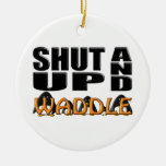 SHUT UP AND WADDLE (Penguins) Ornament