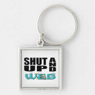 SHUT UP AND WED (Just Married) Keychain