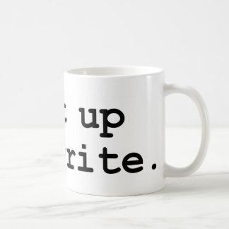Shut up and write coffee mug