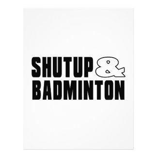 Shut up & BADMINTON Letterhead
