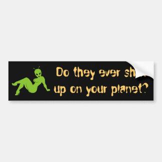 Shut up car bumper sticker